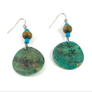 Pretty Turquoise Color Vintage Dangle Earrings